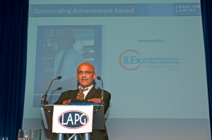 Raju Bhatt, winner of 2013 Outstanding Achievement award in recognition of his work bringing actions against the state