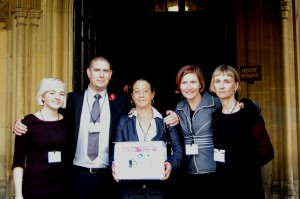 Matt and Martina, flanked by members of Just for Kids Law team, at the House of Lords
